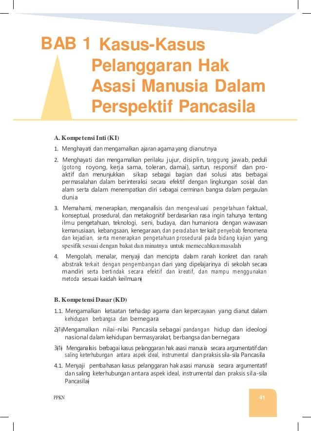 PPKN 41 BAB 1 Kasus-Kasus Pelanggaran Hak Asasi Manusia Dalam Perspektif Pancasila A. Kompetensi Inti (KI) 1. Menghayati d...