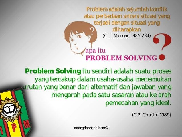 problem solving dalam osis