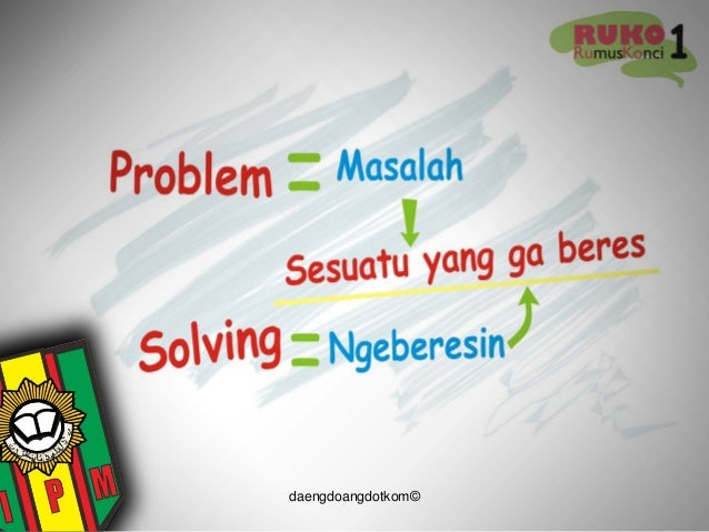 materi problem solving dalam ldks