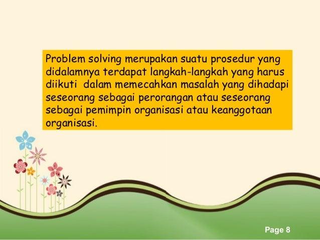 materi problem solving osis