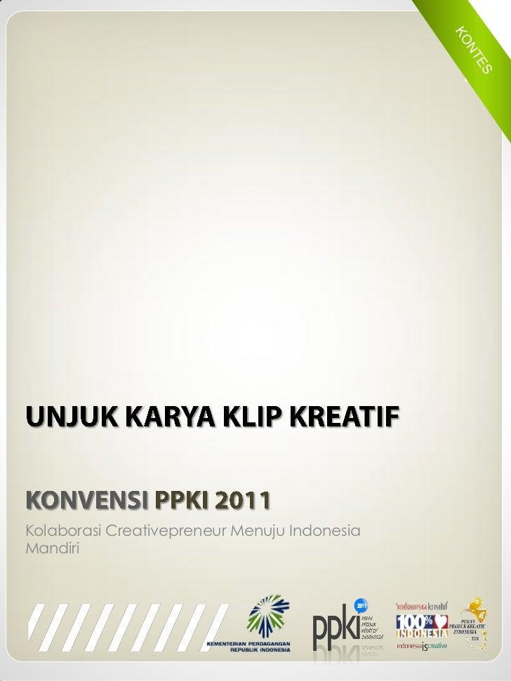 Kolaborasi Creativepreneur Menuju IndonesiaMandiri