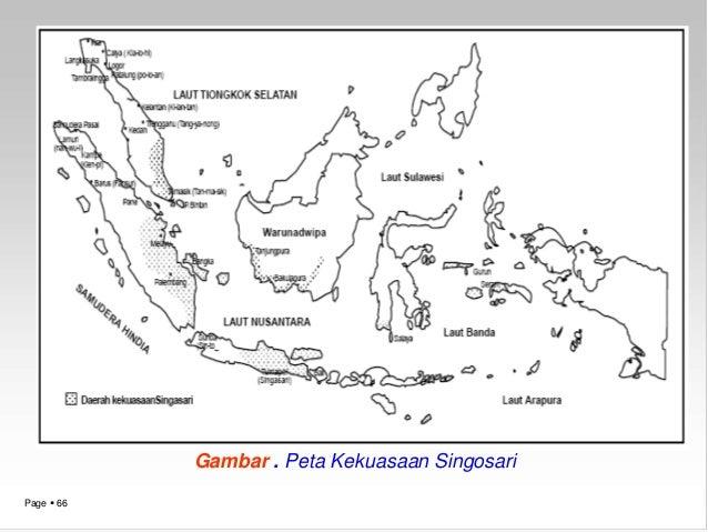 Materi Sejarah Kelas Xi Page 66 Gambar Peta Kekuasaan Singosari