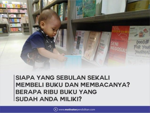 Materi seminar parenting mendidik anak agar gemar membaca