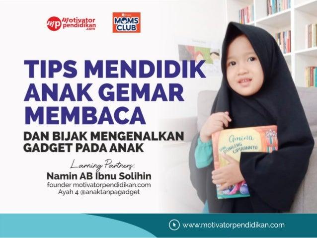 Materi seminar parenting mendidik anak agar gemar membaca tahun 2021