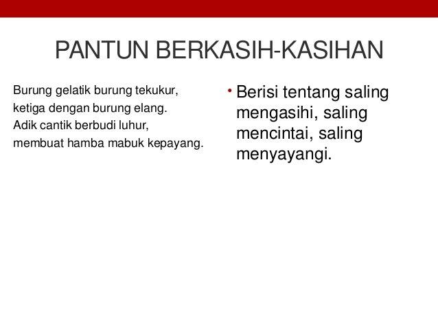 Materi Teks Pantun Bahasa Indonesia Kelas Xi K13