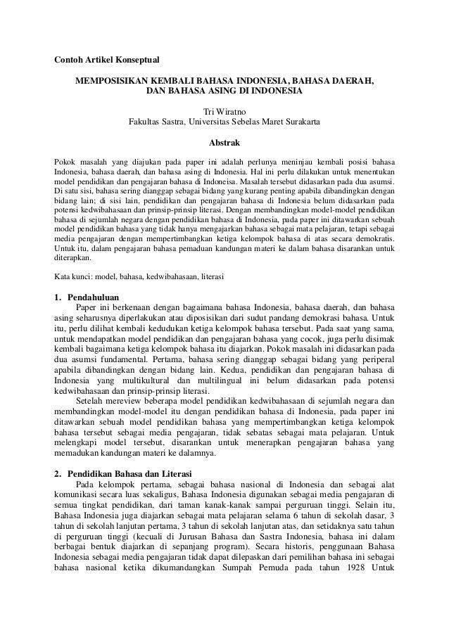 Contoh Artikel Contoh Artikel Bahasa Sunda Singkat Padat Jelas