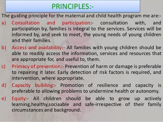 Interventions for maternal and child health