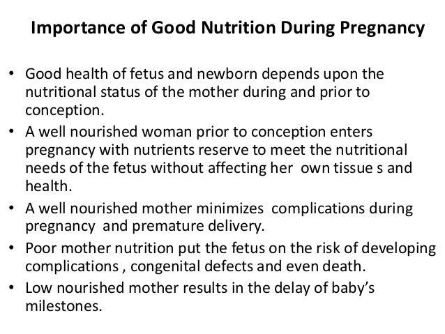 Maternal nutrition unit i