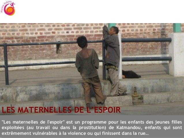 """Faire un donLES MATERNELLES DE L'ESPOIR""""Les maternelles de lespoir"""" est un programme pour les enfants des jeunes fillesexp..."""