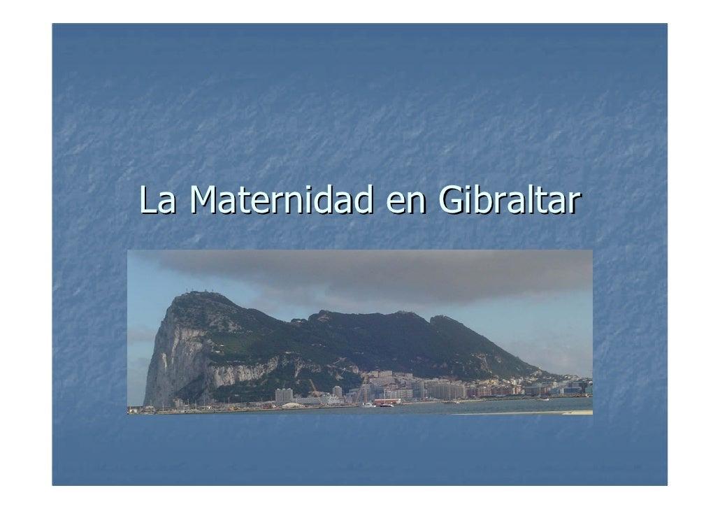 La Maternidad en Gibraltar