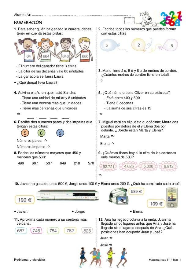 Matemáticas de 3º Primaria. Problemas y ejercicios Slide 2