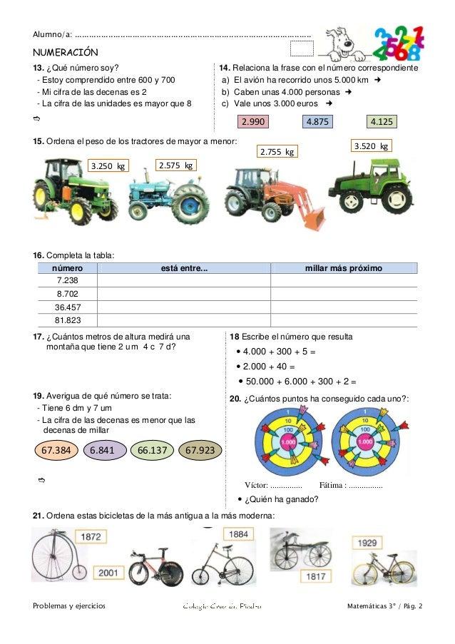 Matemáticas de 3º Primaria. Problemas y ejercicios Slide 3
