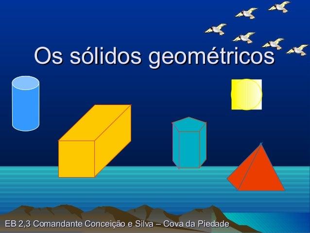 Os sólidos geométricosEB 2,3 Comandante Conceição e Silva – Cova da Piedade