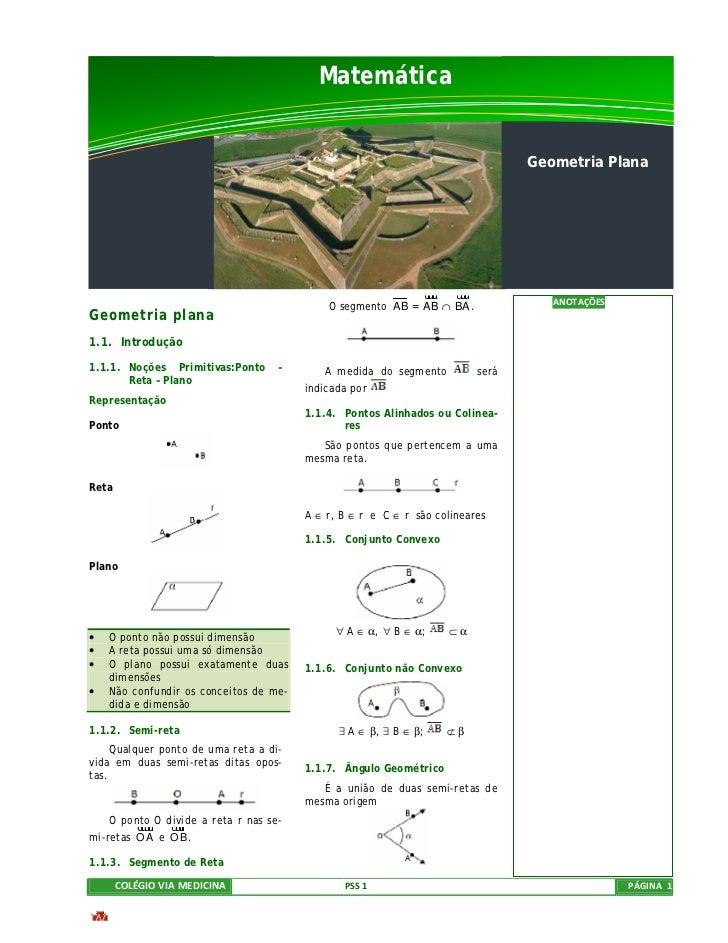 Matemática                                                                                Geometria Plana                 ...