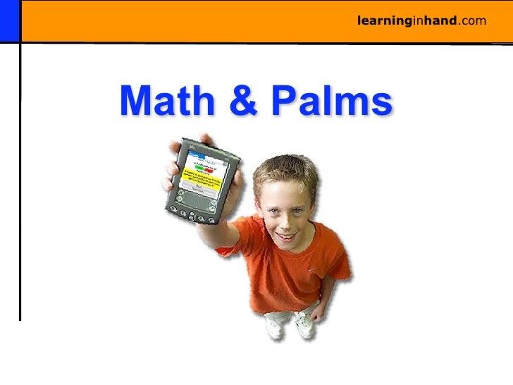 learninginhand.com     Math & Palms