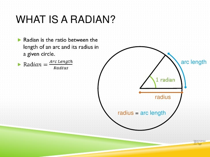 how to work out number to radians