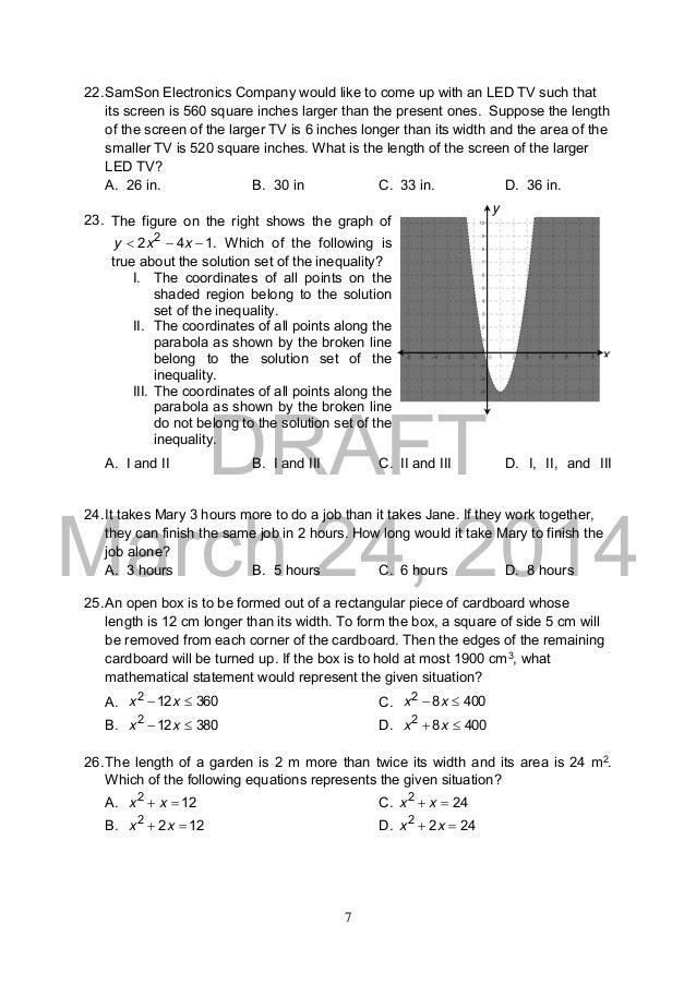 Grade 9 Math Module 2nd Quarter Pdf - mathematics grade 7 ...