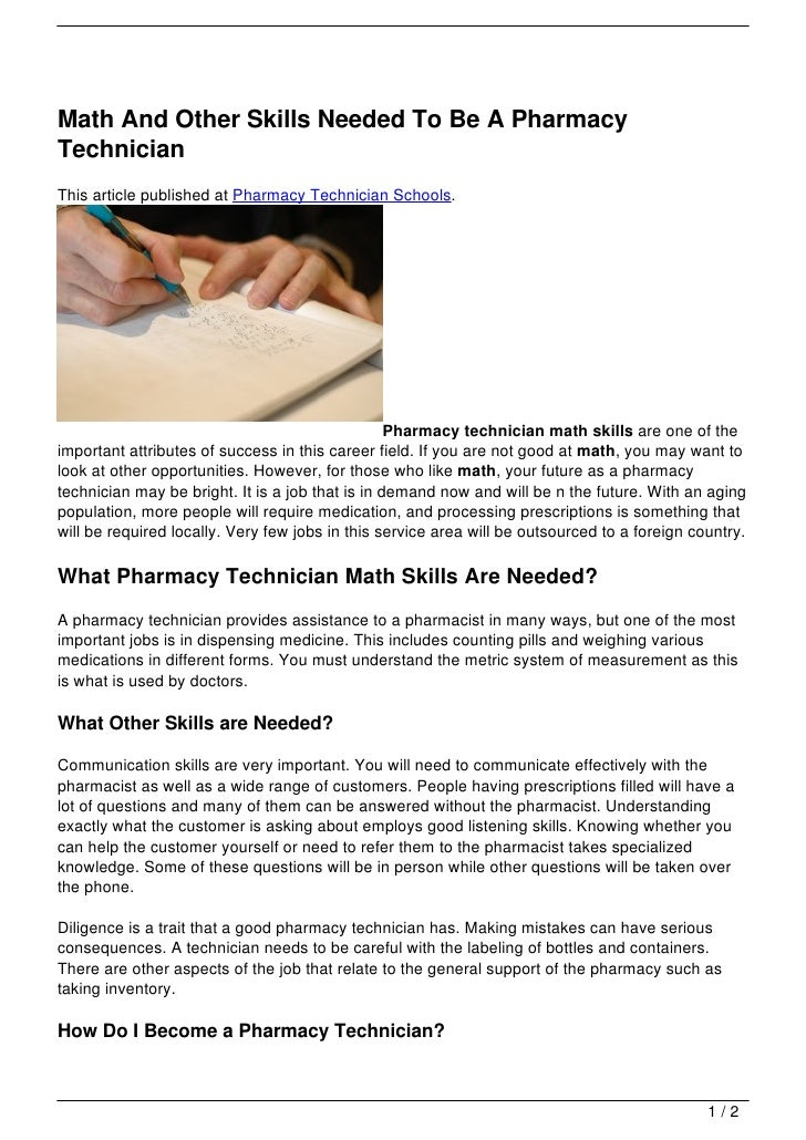 Why i want to become a pharmacy technician