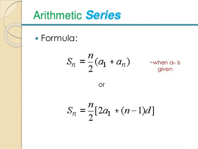 Arithmetic Mean And Series
