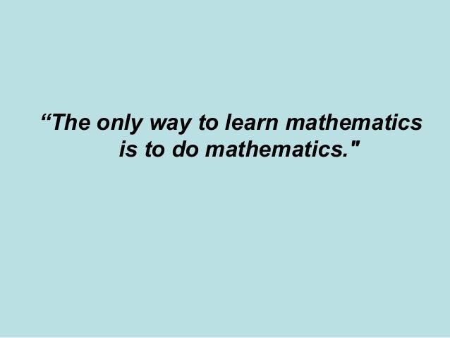Mathematics Laboratory Approach