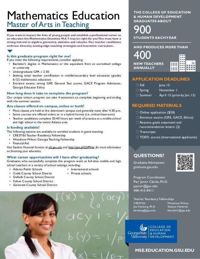 Mathematics Education If you want to impact the lives of young people and establish a professional career as an educator, ...