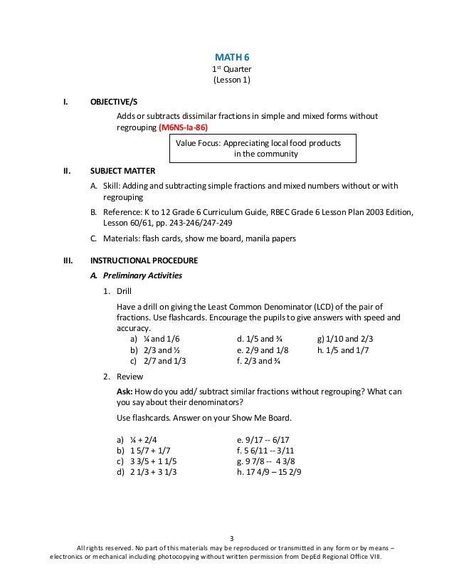 MATH 6 K-12 TEACHER'S GUIDE (Q1)