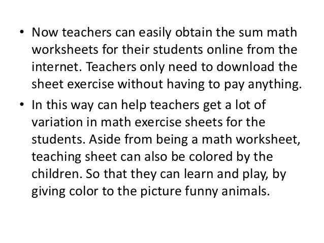 Free Math Worksheets for Teachers to Download – Math Teacher Worksheets