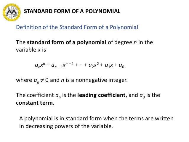 MIT Math Syllabus 10-3 Lesson 2 : Polynomials