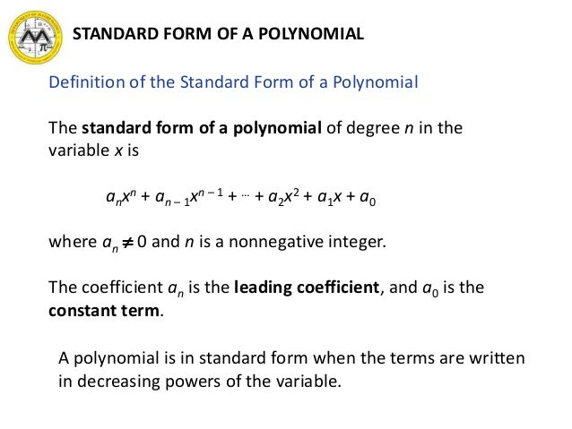 Mit Math Syllabus 10 3 Lesson 2 Polynomials