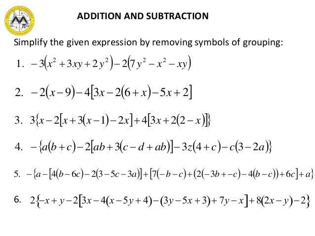 MIT Math Syllabus 103 Lesson 2 Polynomials – Addition of Polynomials Worksheet