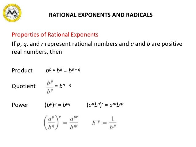 MIT Math Syllabus 10-3 Lesson 4: Rational exponents and radicals