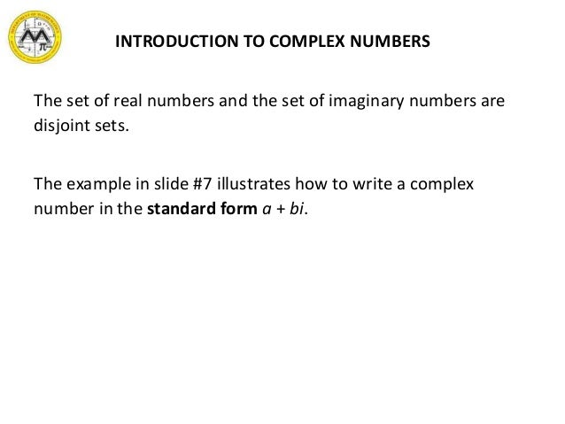 Mit Math Syllabus 10 3 Lesson 5 Complex Numbers