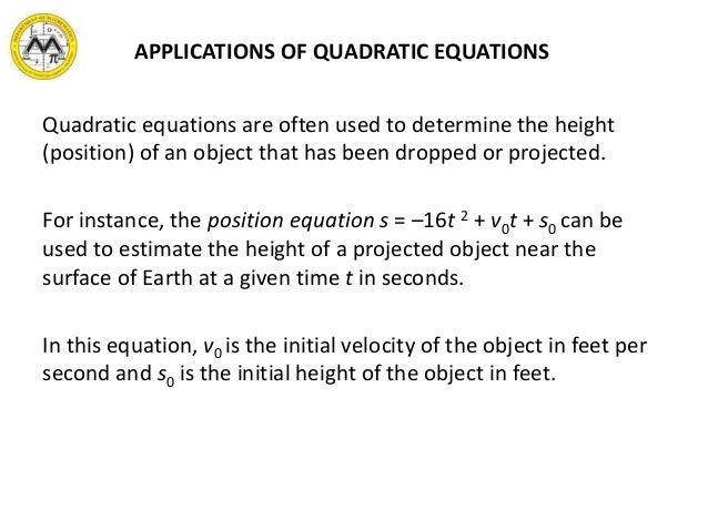 MIT Math Syllabus 10-3 Lesson 7: Quadratic equations