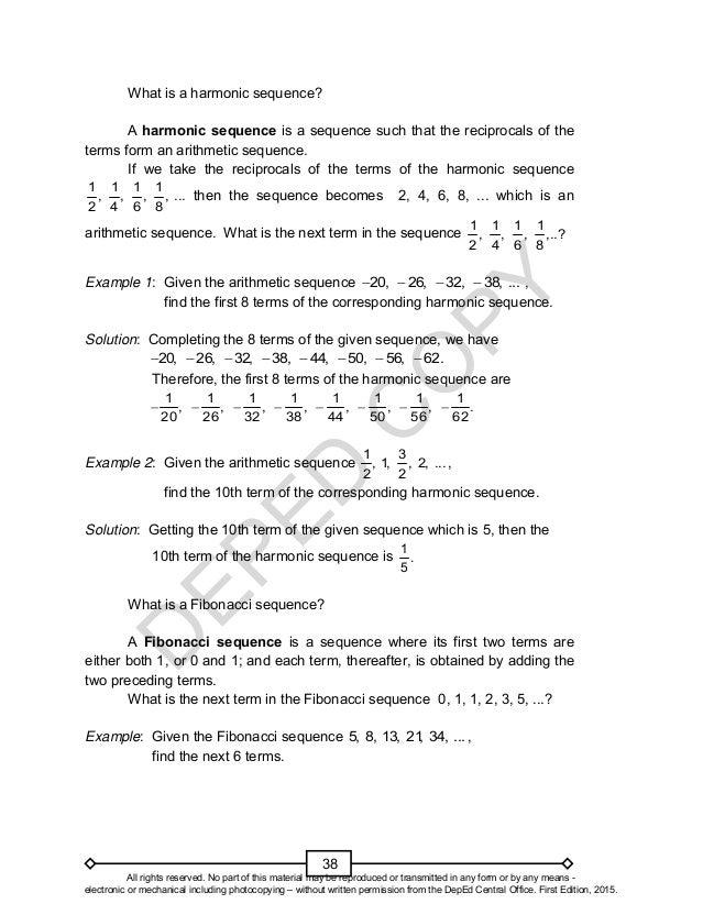 Mathematics 10 Learning Modules Quarter 1