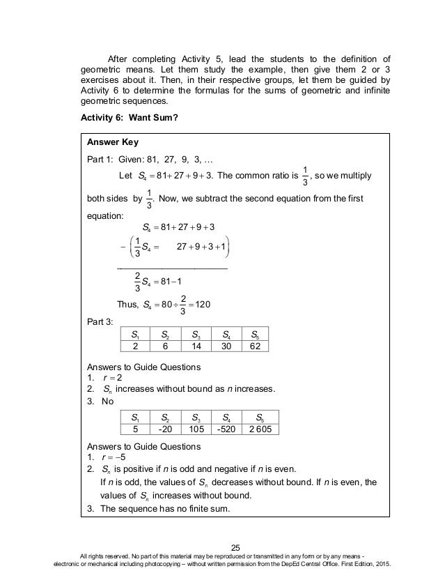 math10 tg u1 rh slideshare net Answer Key Sheet School Answer Keys