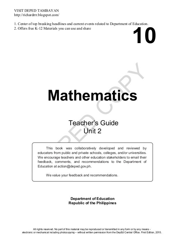 2nd quarter (tg) teachers guide now available | deped club.