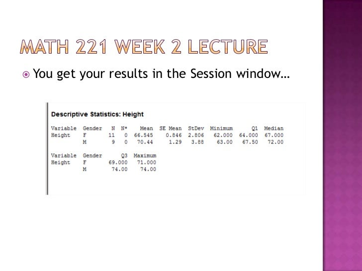 Math 221 week 5 quiz