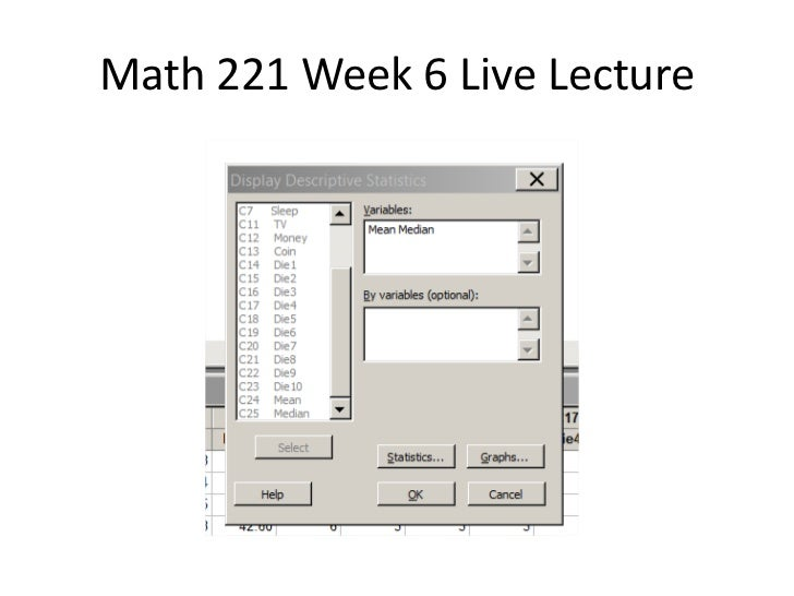 MATH 221 Week 4 iLab DEVRY