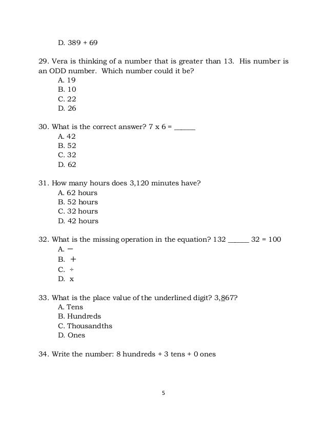 Perfect Math Questions For Grade 3 Collection - Math Worksheets ...
