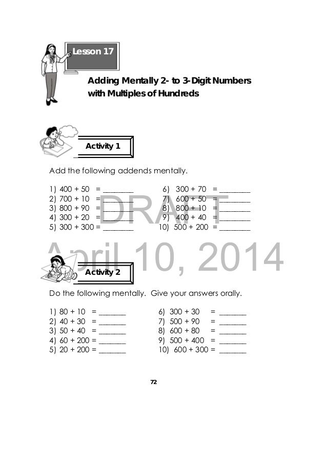 math worksheet : grade 3 math learners module : What Is Addends