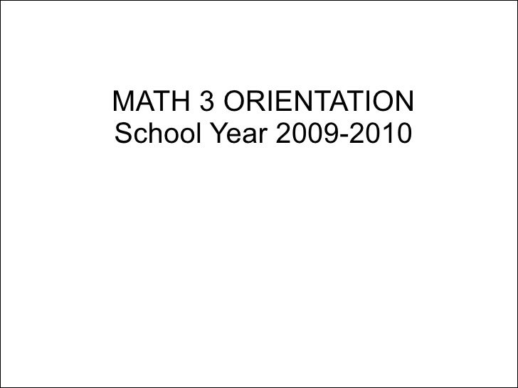 an essay on mathematical orientation Academic skills workshops are run pre-semester, in orientation week and  select view or register for academic skills workshops and  essay writing, academic.
