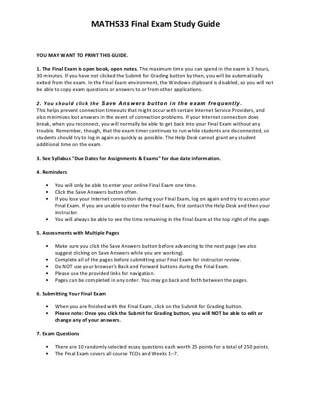 Algebra 1 final exam study guide Essay Sample - July 2019 - 2355 words