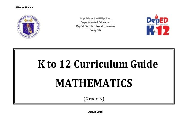 Math 5 Curriculum Guide rev.2016