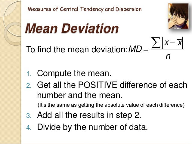 31 measures of central tendency page Definition: the tendency of quantitative data to cluster around some central   mean: the sum of all measurements divided by the number of observations   the last revision 2011-10-31, [cit  this page was last modified at 6 january  2017.