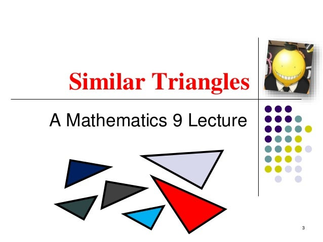 Math 9   similar triangles intro Slide 3