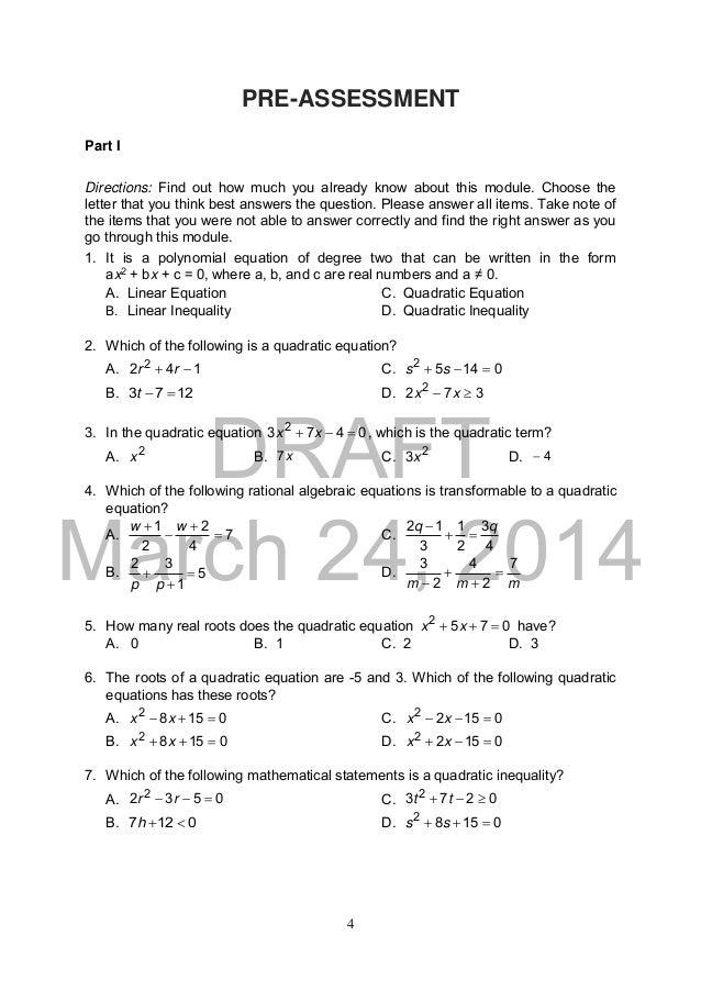 Grade 9 math of quadratic inequalities rational algebraic equations quadratic inequalities 7 fandeluxe Choice Image