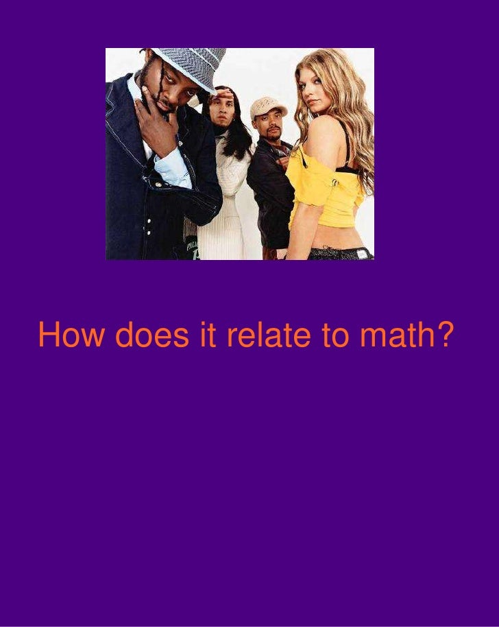 How does it relate to math?<br />