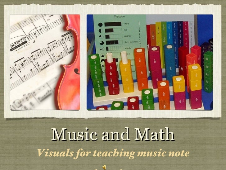 Music and Math <ul><li>Visuals for teaching music note duration  </li></ul>