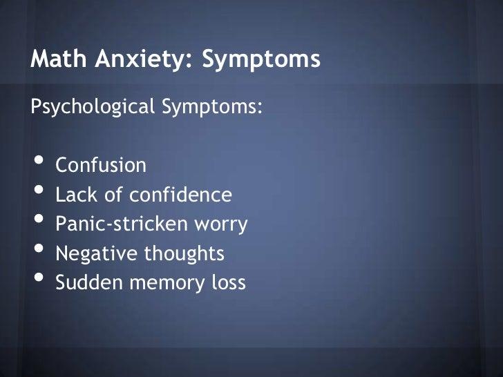 Mathematics Anxiety Presentation