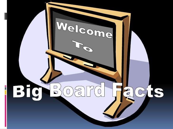 Welcome<br />To<br />Big Board Facts <br />